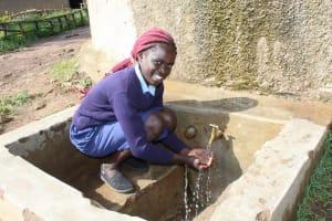 The Water Project: Shiru Primary School -  Flowing Water