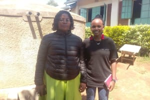 The Water Project: Samson Mmaitsi Secondary School -  School Administrator Hellen With Field Officer Georgina