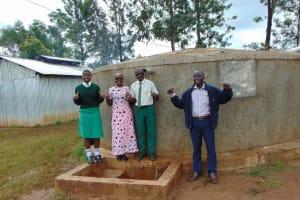The Water Project: Injira Secondary School -  Field Officer Joan Were Joins In