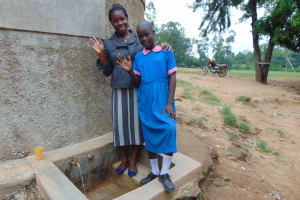 The Water Project: Eshiamboko Primary School -  Field Officer Christine Masinde With Eunice