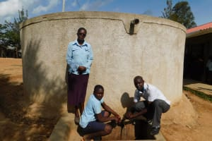 The Water Project: Kenneth Marende Primary School -  Mrs Okech Dickson And Field Officer Wilson Kipchoge