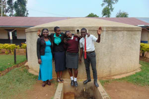 The Water Project: Imusutsu High School -  Doreen Field Officer Rose Serete Smarone And Student