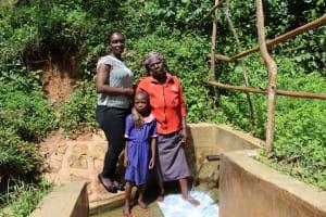 The Water Project: Jivovoli Community, Wamunala Spring -  Laura With Beatrice And Valentine
