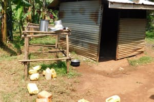 The Water Project: Ebukhuliti Primary School -  Kitchen And Dishrack