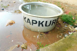 The Water Project: Kapkures Primary School -  Tub Of Rain Water
