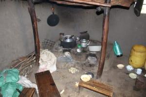 The Water Project: Kalenda B Community, Lumbasi Spring -  Stove Inside A Kitchen
