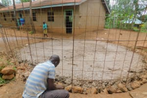 The Water Project: Makunga Primary School -  Rain Tank Walls