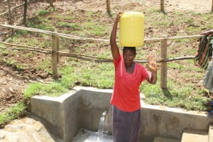 The Water Project: Shamiloli Community, Kwasasala Spring -  Ready To Head Home