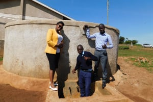 The Water Project: Sipande Secondary School -  Jacklyne Isaack And Kelvin At The Tanks Tap