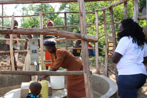 The Water Project:  Christine At The Pump