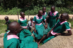 The Water Project: Mwichina Primary School -  Girls Relax During Break Time