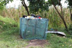 The Water Project: Kalenda B Community, Lumbasi Spring -  Dishrack