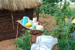 The Water Project: Munenga Community, Francis Were Spring -  Dishrack