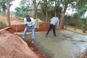 The Water Project: Ikumba Secondary School -  Latrine Foundation