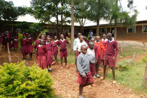 The Water Project: Ebukhuliti Primary School -  Students Outside Their Classrooms
