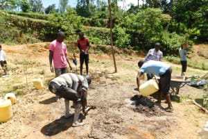 The Water Project: Shihingo Community, Inzuka Spring -  Mixing Cement