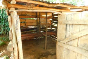 The Water Project: Ewamakhumbi Community, Mukungu Spring -  Cow Shed
