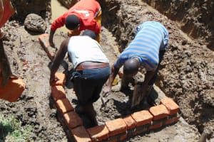 The Water Project: Shamiloli Community, Kwasasala Spring -  Bricksetting Begins
