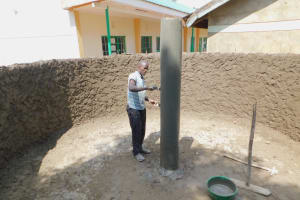 The Water Project: Makunga Primary School -  Isnide The Tank The Main Support Pillar