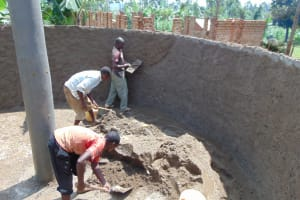 The Water Project: Irovo Orphanage Academy -  Cementing Inside The Rain Tank