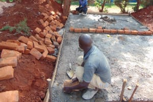 The Water Project: Ikumba Secondary School -  Measuring Brickwork