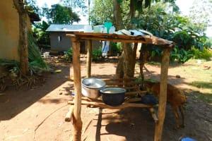 The Water Project: Ewamakhumbi Community, Mukungu Spring -  Dishrack