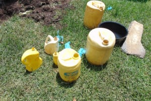 The Water Project: Bukhaywa Community, Shidero Spring -  Containers For Collecting And Storing Water