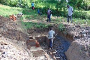 The Water Project: Shihingo Community, Inzuka Spring -  Brickwork
