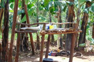 The Water Project: Kimarani Community, Kipsiro Spring -  Dishrack