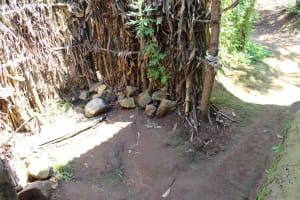 The Water Project: Kalenda A Community, Webo Simali Spring -  Bathroom