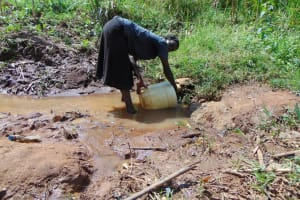 The Water Project: Musiachi Community, Mutuli Spring -  Fetching Water