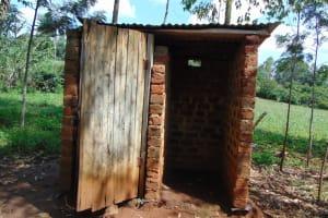 The Water Project: Musiachi Community, Mutuli Spring -  Latrine