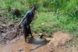 The Water Project: Musiachi Community, Mutuli Spring -  Standing At The Spring