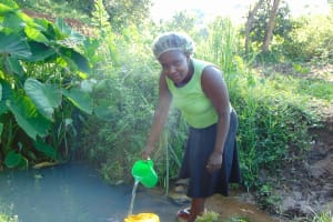 The Water Project: Maondo Community, Ambundo Spring -  At The Spring