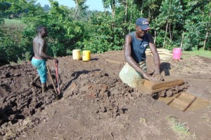 The Water Project: Maondo Community, Ambundo Spring -  Brickmaking