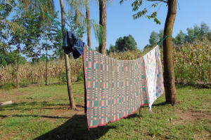The Water Project: Maondo Community, Ambundo Spring -  Clothesline