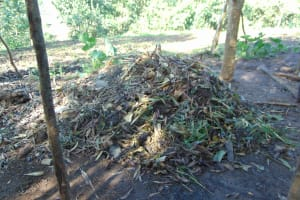 The Water Project: Maondo Community, Ambundo Spring -  Compost Pit