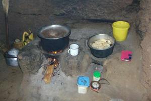The Water Project: Maondo Community, Ambundo Spring -  Cooking Area
