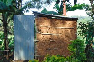 The Water Project: Maondo Community, Ambundo Spring -  Latrine