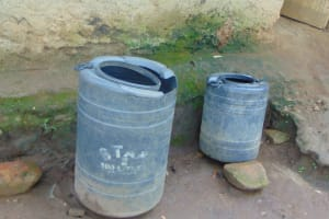 The Water Project: Maondo Community, Ambundo Spring -  Water Storage Containers