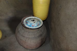 The Water Project: Rosterman Community, Lishenga Spring -  Drinking Water Storage
