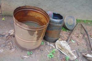 The Water Project: Rosterman Community, Lishenga Spring -  Rainwater Catchment Drums
