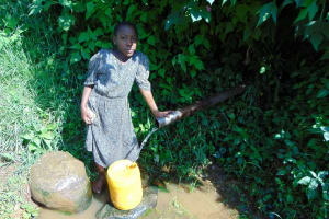 The Water Project: Rosterman Community, Lishenga Spring -  Stella At The Spring