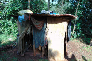 The Water Project: Rosterman Community, Lishenga Spring -  Traditional Latrine