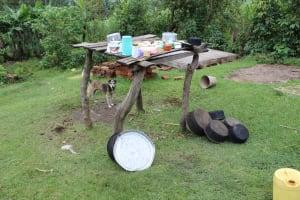 The Water Project: Imbinga Community, Imbinga Spring -  Dishrack