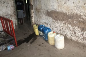 The Water Project: Imbinga Community, Imbinga Spring -  Water Storage Containers