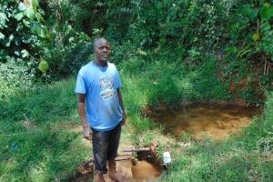 The Water Project: Jivovoli Community, Magumba Spring -  Josphat Amugata