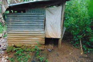 The Water Project: Jivovoli Community, Magumba Spring -  Latrine