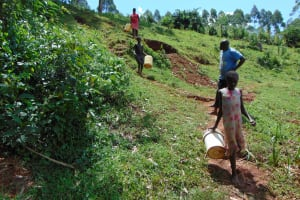 The Water Project: Jivovoli Community, Magumba Spring -  Walking To The Spring