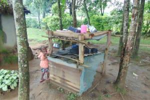 The Water Project: Buyangu Community, Mukhola Spring -  Dishrack